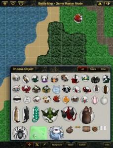 Battle Map - Einfügen von Objekten