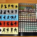 Einleger - Charakteraufsteller (Rückseite) und Spielmarker