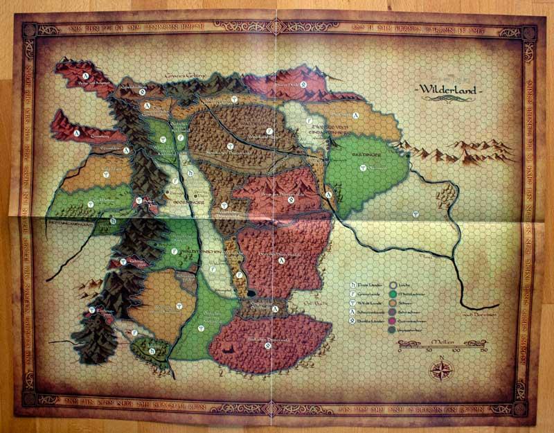 Die DER-Spielleiterkarte zum Wilderland
