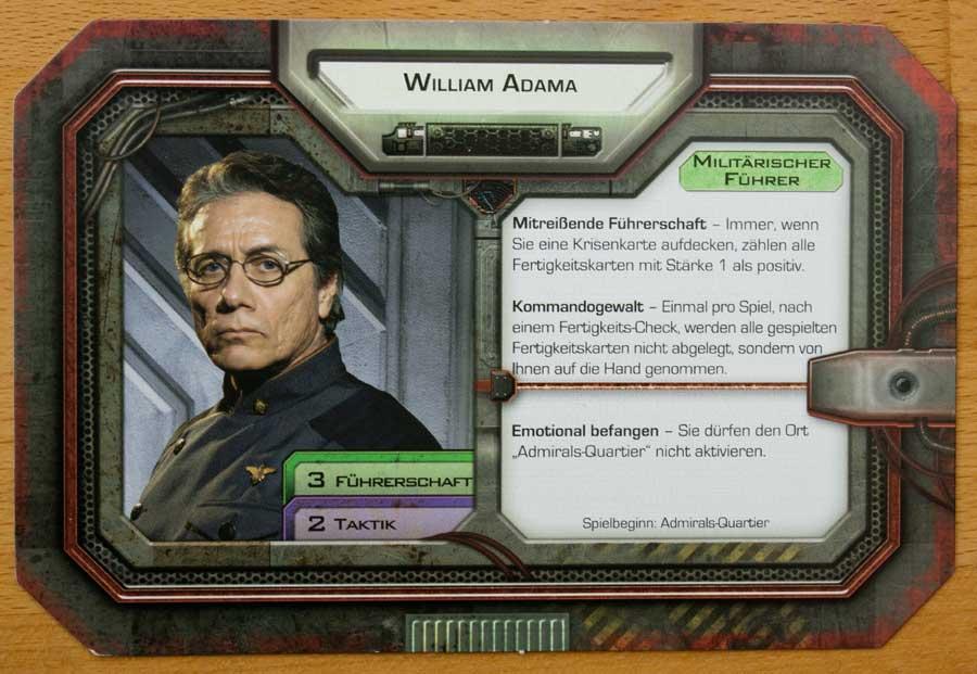 Der Spieler von Adama zieht zu Beginn seines Zuges drei grüne und zwei violette Fertigkeitskarten