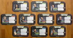 Die zehn spielbaren Charaktere von Battlestar Galactica