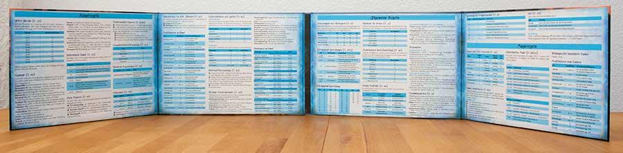 Splitermond-Spielleiterschirm - Tabellen und Regeln im Inneren